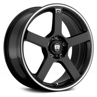 MOTEGI RACING® - MR116 Gloss Black with Machined Stripe