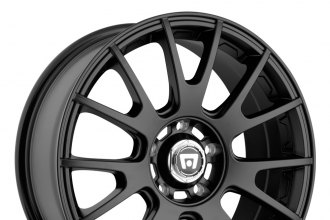 "MOTEGI RACING® - MR118 Matte Black with Clear Coat (17"" x 8"", +32 Offset, 5x112 Bolt Pattern, 72.6mm Hub)"