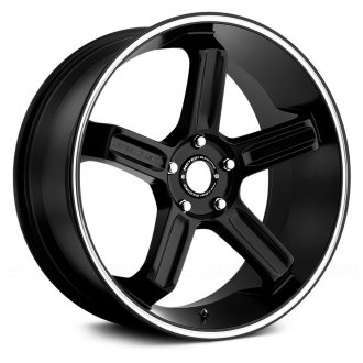 MOTEGI RACING® - MR122 Satin Black with Machined Groove