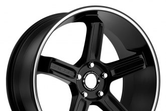 "MOTEGI RACING® - MR122 Satin Black with Machined Groove (18"" x 8"", +35 Offset, 5x108-130 Bolt Patterns, 110.5mm Hub)"