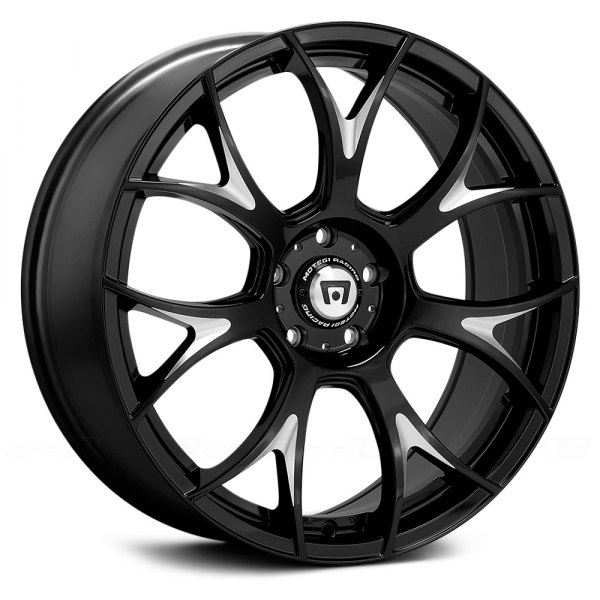 MOTEGI RACING® - MR126 Gloss Black with Milled Accents