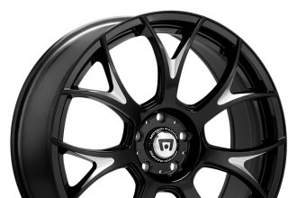 "MOTEGI RACING® - MR126 Gloss Black with Milled Accents (20"" x 8.5"", +38 Offset, 5x120.65 Bolt Pattern, 72.6mm Hub)"