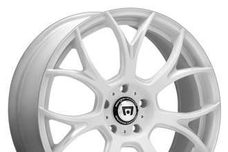 "MOTEGI RACING® - MR126 Matte White with Milled Accents (17"" x 8"", +38 Offset, 5x114.3 Bolt Pattern, 72.6mm Hub)"