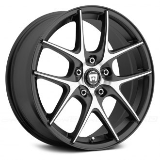 MOTEGI RACING® - MR128 Satin Black with Machined Face