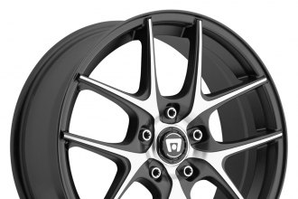 "MOTEGI RACING® - MR128 Satin Black with Machined Face (18"" x 8"", +48 Offset, 5x114.3 Bolt Pattern, 72.6mm Hub)"
