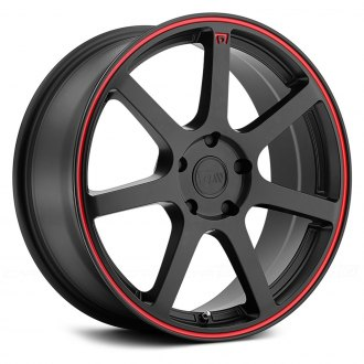 MOTEGI RACING® - MR132 Matte Black with Red Pinstripe