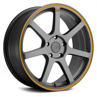 MOTEGI RACING® - MR132 Matte Gray with Orange Pinstripe