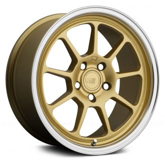 MOTEGI RACING® - MR135 Gold Center with Machined Lip