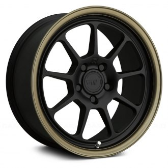 MOTEGI RACING® - MR135 Matte Black Center with Bronze Lip