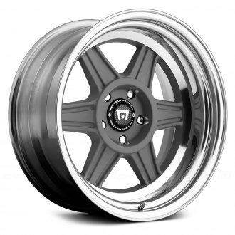 MOTEGI RACING® - MR224 2PC Mag Gray with Polished Lip