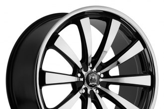 "MOTIV® - 407MB MAJESTIC Gloss Black with Mirror Machined Face and Lip (20"" x 8.5"", +35 Offset, 5x114.3 Bolt Pattern, 74.1mm Hub)"