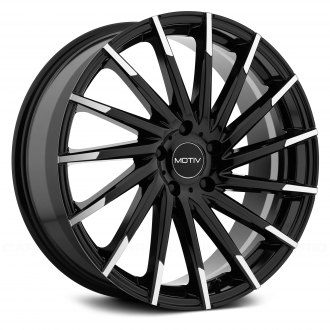MOTIV® - 417BMT MONTAGE Gloss Black with Mirror Machined Spoke Tips
