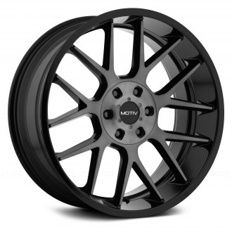 MOTIV® - 422MBDT MIDNIGHT Gloss Black with Machined Face and Dark Tint