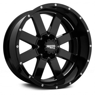 MOTO METAL® - MO200 Gloss Black with Milled Accents