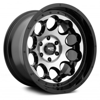 MOTO METAL® - MO990 ROTARY Gloss Black with Machined Face