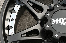 MOTO METAL® - MOT961 Black Rim with Rivets