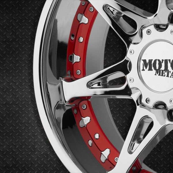 MOTO METAL® - MO961 Chrome Rims with Red Inserts