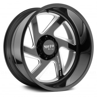 MOTO METAL® - MO400 Monoblock Gloss Black with Milled Accents