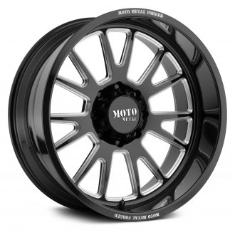 MOTO METAL® - MO401 Monoblock Gloss Black with Milled Accents