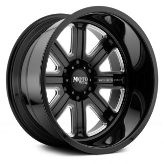 MOTO METAL® - MO402 Monoblock Gloss Black with Milled Accents