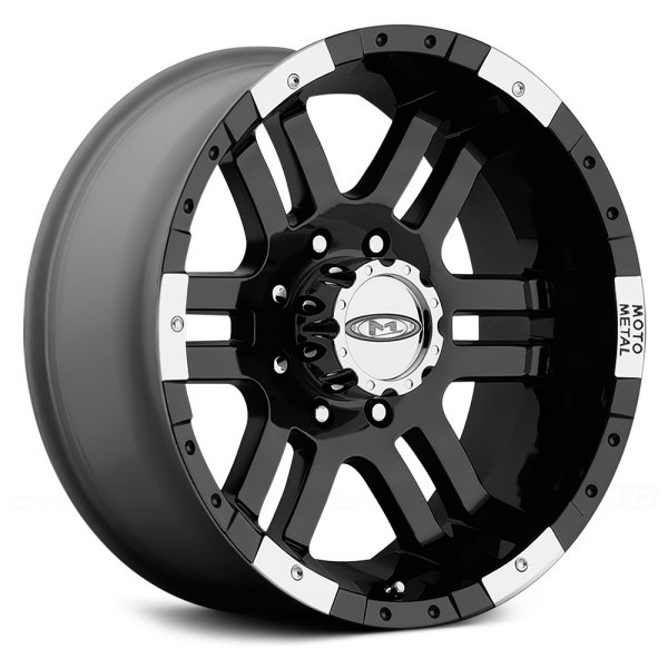 MOTO METAL® - MO951 Gloss Black with Machined Bezel