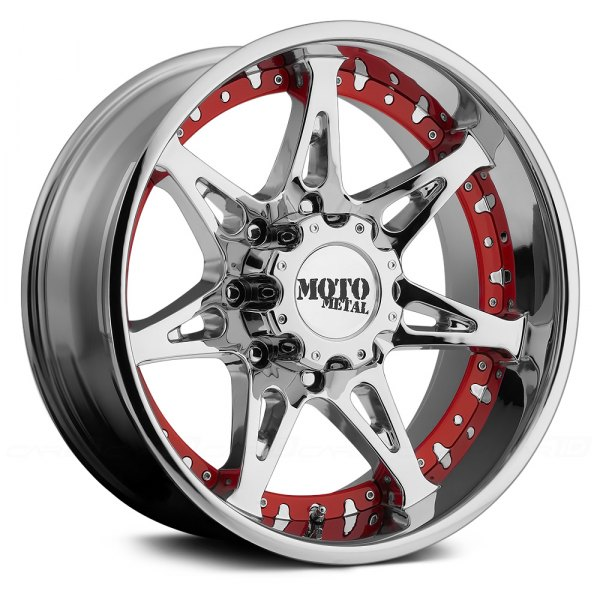 MOTO METAL® - MO961 Chrome with Red Inserts