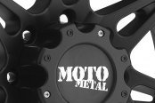 MOTO METAL® - MO961 Satin Black with Chrome Inserts Close-Up