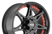 MOTO METAL® - MO961 Satin Black with Red Inserts