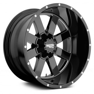 MOTO METAL® - MO962 Gloss Black with Milled Accents