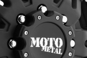 MOTO METAL® - MO963 DUALLY Matte Black with Machined Flange - Front Close-Up