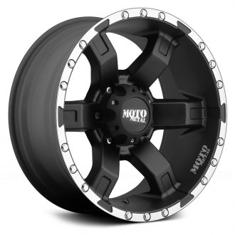 MOTO METAL® - MO967 Satin Black with Machined Flange