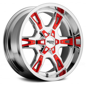 MOTO METAL® - MO969 Chrome with Black and Red Accents
