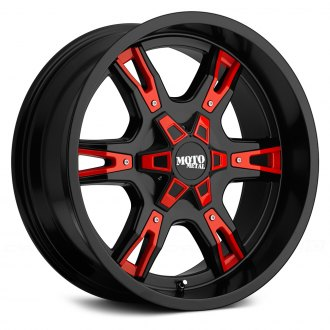 MOTO METAL® - MO969 Gloss Black with Red and Chrome Accents