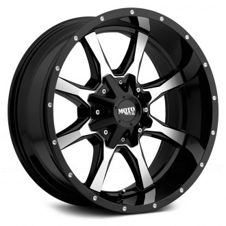MOTO METAL® - MO970 Gloss Black with Machined Face