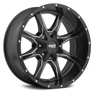 MOTO METAL® - MO970 Satin Gloss Black with Milled Trim