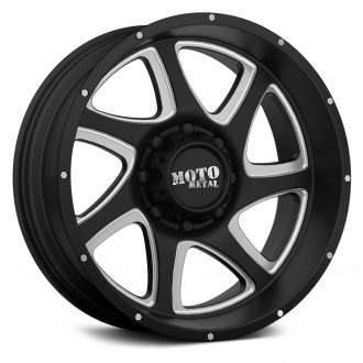MOTO METAL® - MO976 Satin Black with Milled Accents