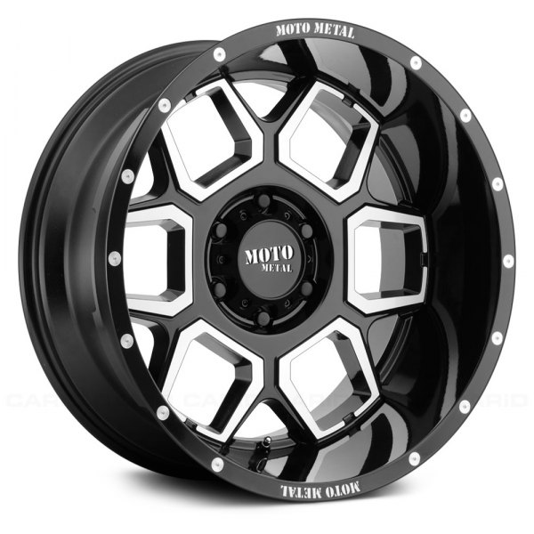 MOTO METAL® - MO981 SPADE Gloss Black with Machined Face