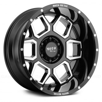 MOTO METAL® - MO981 Gloss Black with Machined Face