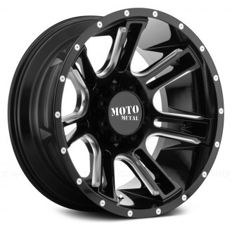 MOTO METAL® - MO982 AMP Gloss Black with Milled Accents