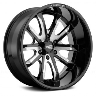 MOTO METAL® - MO983 Gloss Black with Milled Accents