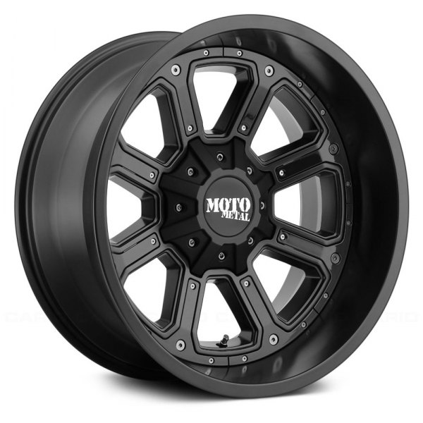 MOTO METAL® - MO984 SHIFT Matte Black with Gloss Black Inserts