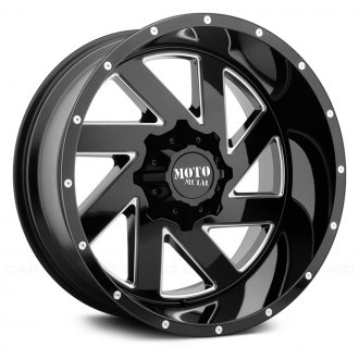 MOTO METAL® - MO988 MELEE Gloss Black with Milled Accents