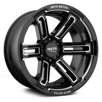 MOTO METAL® - MO991 RUCKUS Gloss Black with Milled Accents