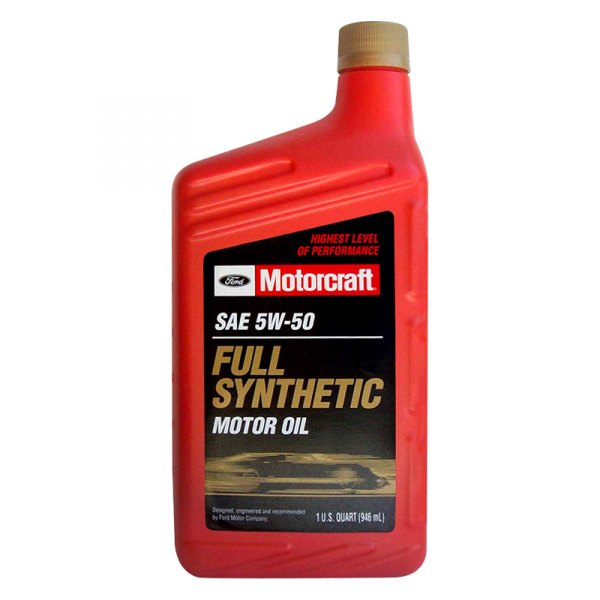 Motorcraft xo5w50qgt universal sae 5w 50 full synthetic for How long does motor oil last