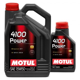 Motul USA® - 4100 Power Technosynthese Motor Oil