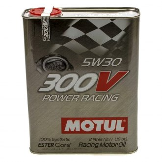 Motul USA® - 300V 5W-30 Synthethic Racing Oil, 2 Liter