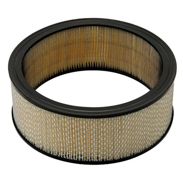 Round Air Filter Paper : Mr gasket a paper replacement round tan air filter