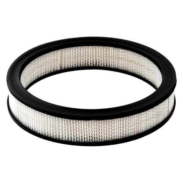 Round Air Filter Paper : Mr gasket paper replacement round white air filter