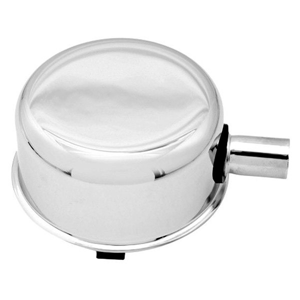 Mr. Gasket® - Chrome Plated Push-On Breather/Oil Filler Cap with PCV Hose Hook Up