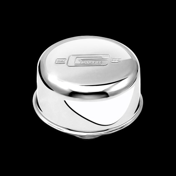 Mr. Gasket® - Chrome Plated Push-On Breather/Oil Filler Cap with Logo without PCV Hose Hook Up
